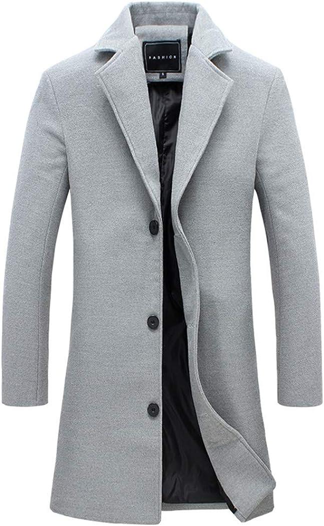 Jacket Long Windbreaker Trench Fashion New Mens Casual Long Coat