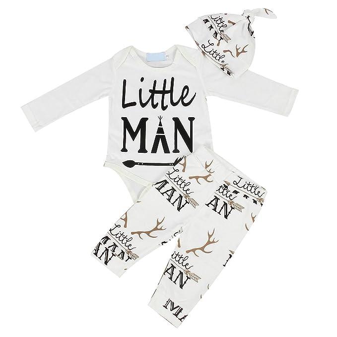 Neugeborene Baby Kleidung Little Man Langarm Spielanzug Strampler ...