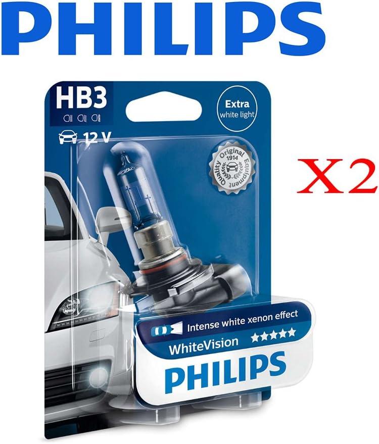 Philips 0109005WHVB1 Hb3 Whitevision 12V 60W P20D