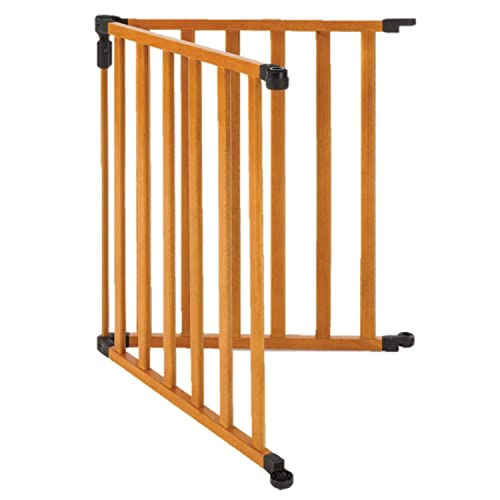 Toddleroo by North States 2 Panel Extension for 3 in 1 Wood Superyard Adds up to 48 for an Extra Wide Baby gate or Play Yard 48 Width, Stained Wood