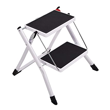 Magnificent Livebest Folding 2 Step Stool Mini 2 Step Ladders With Handle Anti Slip Wide Pedal 330 Lbs Capacity For Kitchen Garage Home For Pet Cat And Dog Step Pabps2019 Chair Design Images Pabps2019Com