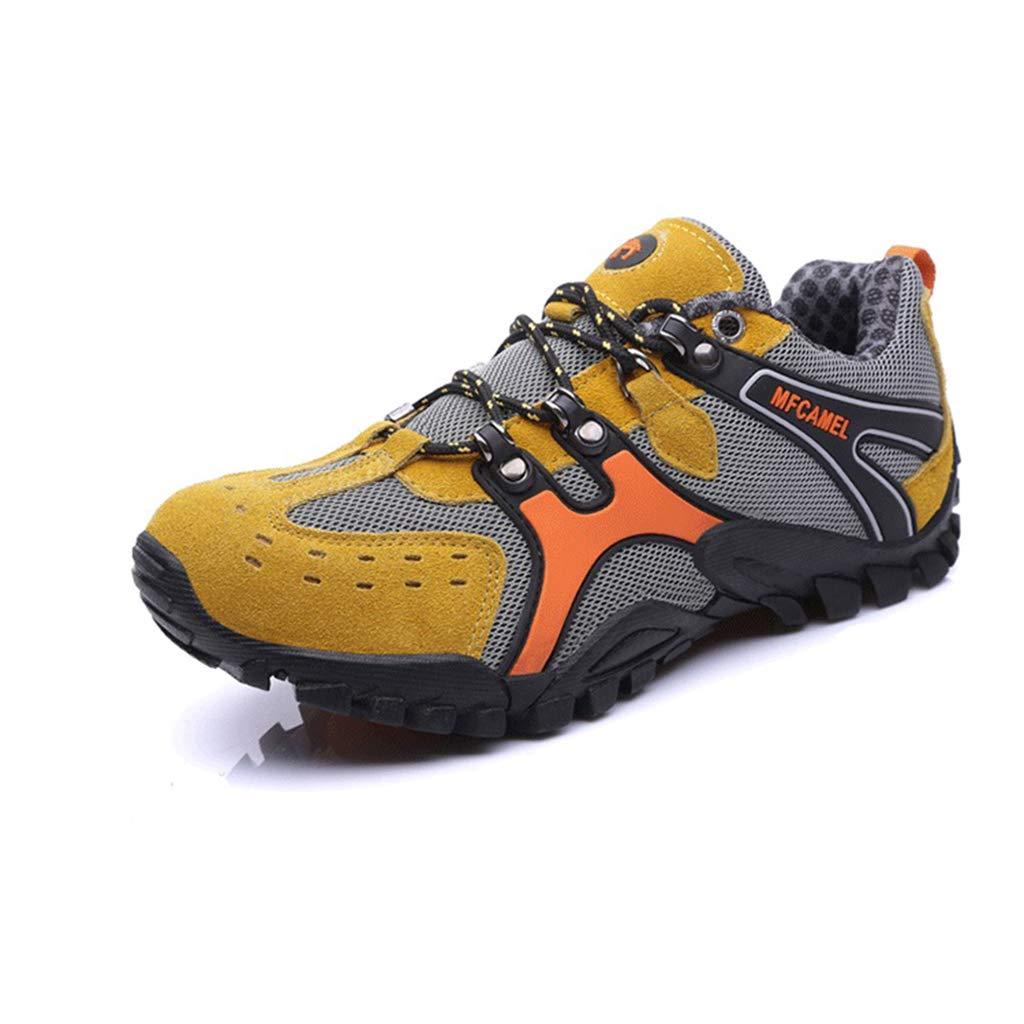 jaune Henxizucun Chaussures de Marche pour Hommes Trekking de randonnée légère Chaussure de Sport en Plein air Faible Top Chaussures de sécurité au Travail Chaussures à Enfiler pour la Course à Pied Escalade