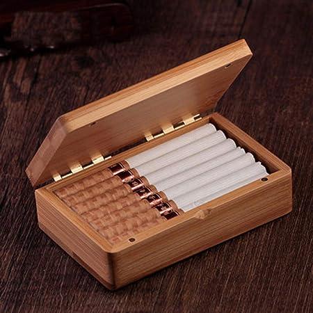 NACHEN Caja de Cigarrillos Imán de Madera Flip Flip Caja de Cigarrillos ordinaria portátil 12 Palos: Amazon.es: Hogar