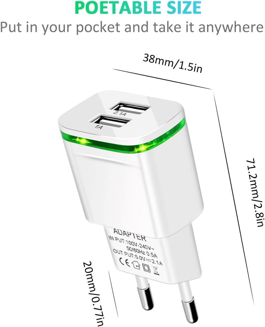PICILOO USB C PD Chargeur 18W Power Delivery 3.0 Prise USB Secteur Adaptateur pour iPhone 11 Pro Max//XR//X//XS Max//8 Plus AirPods Pro iPad Pro Samsung Galaxy S10 S9 S8 Xiaomi Redmi Note 8 Pro