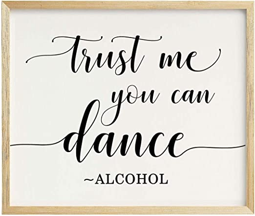 Wedding Dance Floor Print GOLD FOIL Quirky Wedding Trust me you can dance