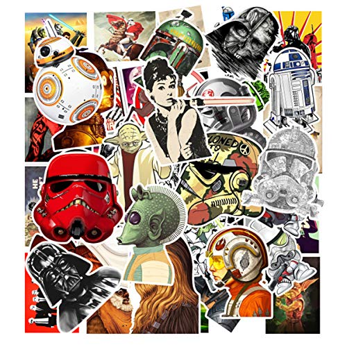 Decal Stickers 50 PCS Star Wars Laptop Sticker Waterproof Vinyl Stickers Car Sticker Motorcycle Bicycle Luggage Decal Graffiti Patches Skateboard Sticker (Star Wars)]()