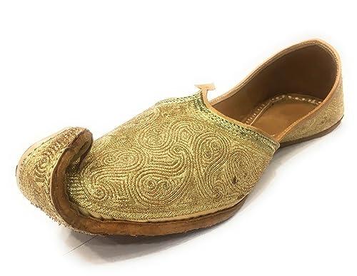 UK Jutti Indian Handmade Leather Mojaries Men Sherwani Shoes Flip Flops SS190