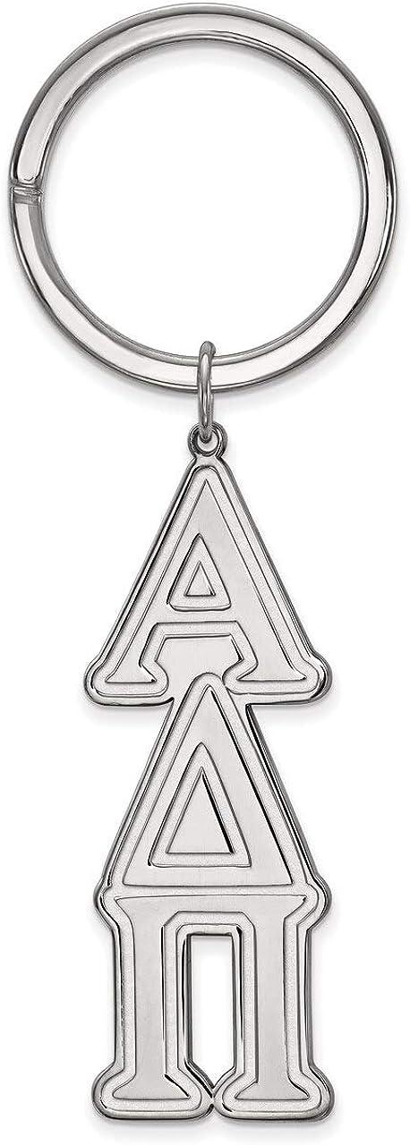Lex /& Lu LogoArt Sterling Silver Alpha Delta Pi Key Chain
