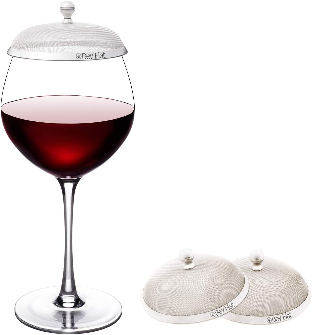 BevHat Couples Pack (2 BevHats Total) Wine Glass Cover. Keep The Bugs Out!