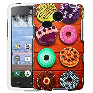 LG Sunrise Case, Snap On Cover by Trek Donuts on Wood Picnic Table Case