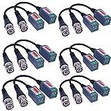 VIMVIP® 6 PAIRS (12 Pcs) Mini CCTV BNC Video Balun Transceiver Cable