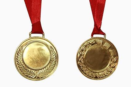 buy trophykart zinc metal medal golden 5cm pack of 6 online at