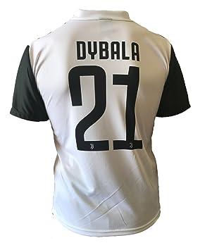 Camiseta Jersey Futbol Juventus Paulo Dybala 21 Replica Autorizado 2017-2018 Niños Adultos (Talla