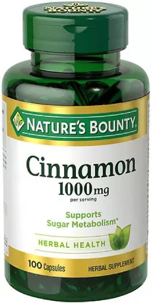 Nature s Bounty Cinnamon 1000 mg Capsules 100 ea Pack of 6