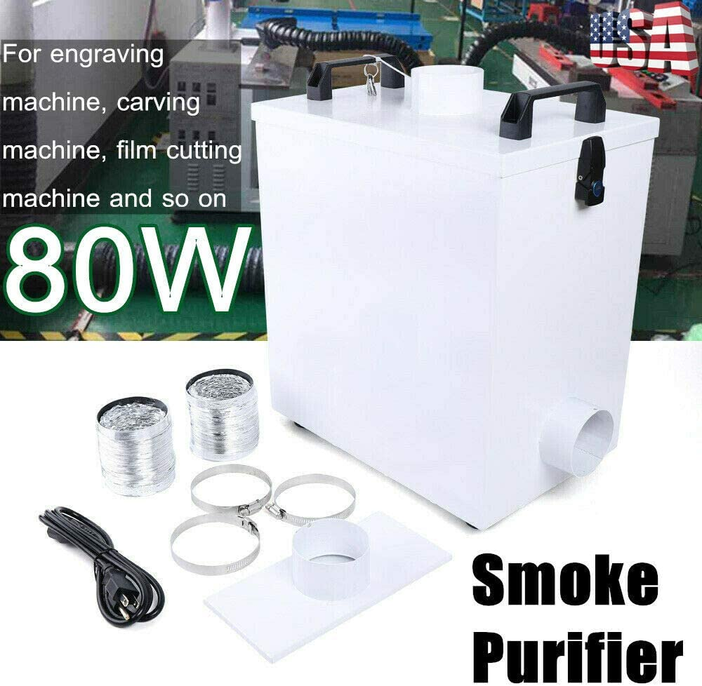 80W Pure Air Fume Extractor Smoke Purifier for Laser Marking Cutting Machine TOP