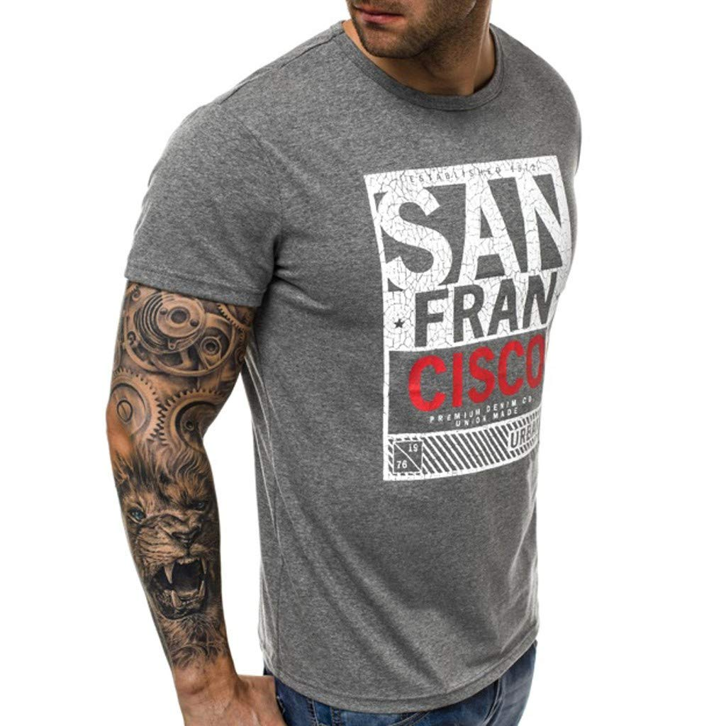 BOBOLover Camisetas Hombre Manga Corta Camisetas Hombre Originales Ropa Hombre T-Shirt Hombre Camisetas Lmpreso con Patr/ón