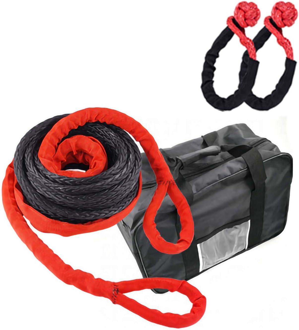 Cuerda remolque automóvil 15t, 15m Cuerda tracción rescate ...