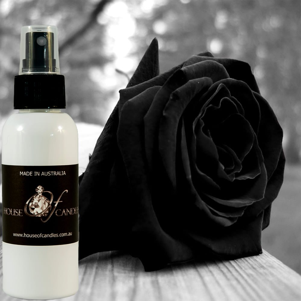 Black Rose & Oud Perfume Body Spray Deodorant Mist XSTRONG 50ml/1.7oz VEGAN & CRUELTY FREE House Of Candles