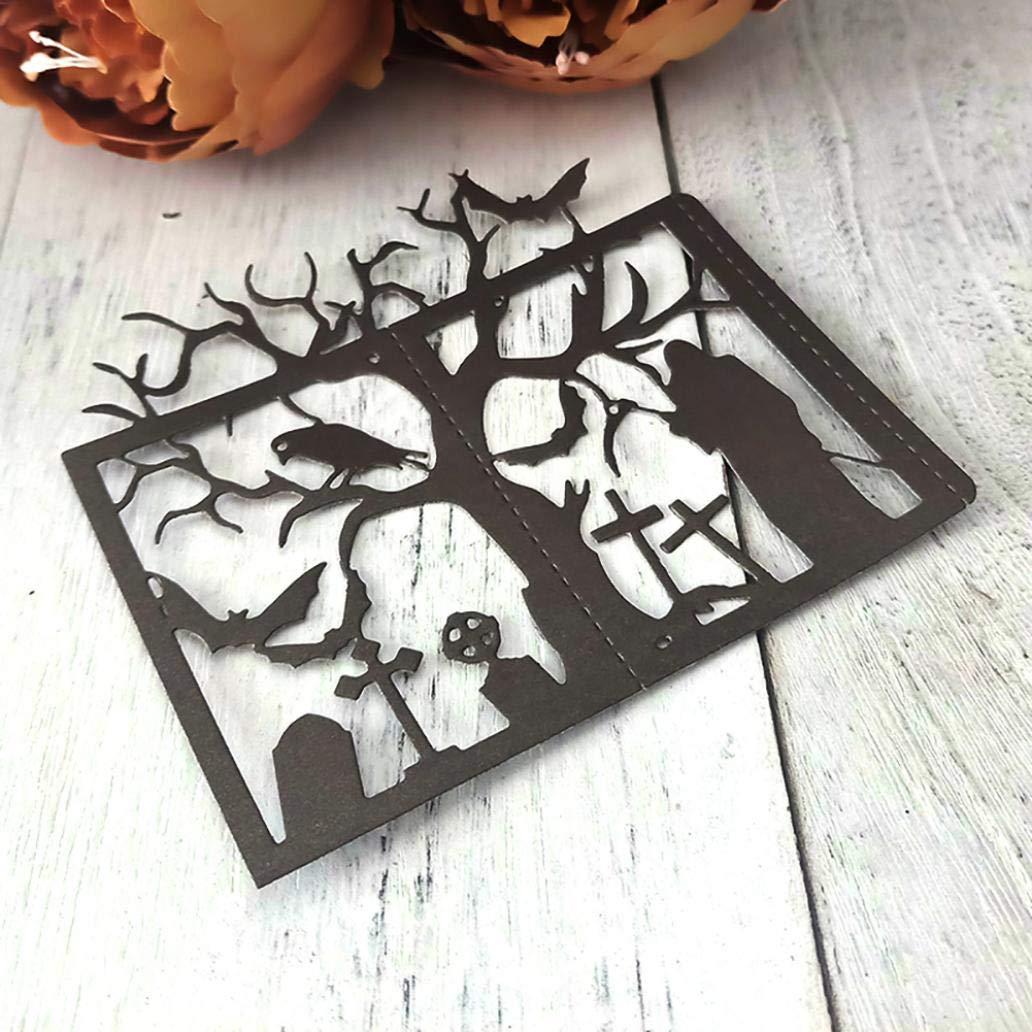 Halloween Tree Branch Metal Cutting Dies DIY Scrapbooking Paper Card Stencil YESZ Cutting Die