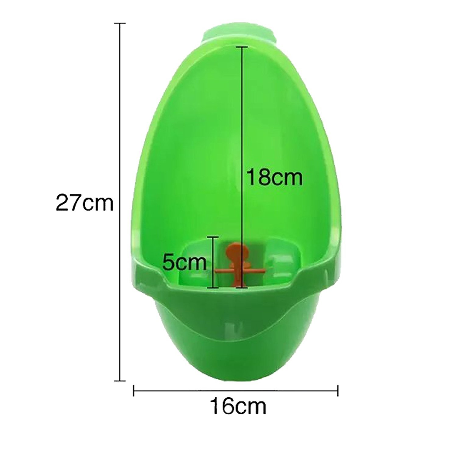 YOUTO Frog Children Potty Toilet Training Urinal for Boys Pee Trainer Bathroom - Green
