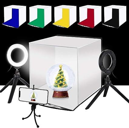 Puluz Foto Softbox Tragbar Zusammenklappbar 30 Cm 11 7 Cm Ring Led Licht Set Mit
