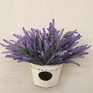 Artificial Flowers Lavender Bouquet for Home and Wedding Decorations-Purple 34