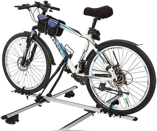 Coche de aluminio del portador de la bici en la azotea Bastidores de bicicletas con bloqueo, Porta vertical soporte para bicicleta de techo, vertical SUV barras de techo Bloqueo de bicicletas Carrier: