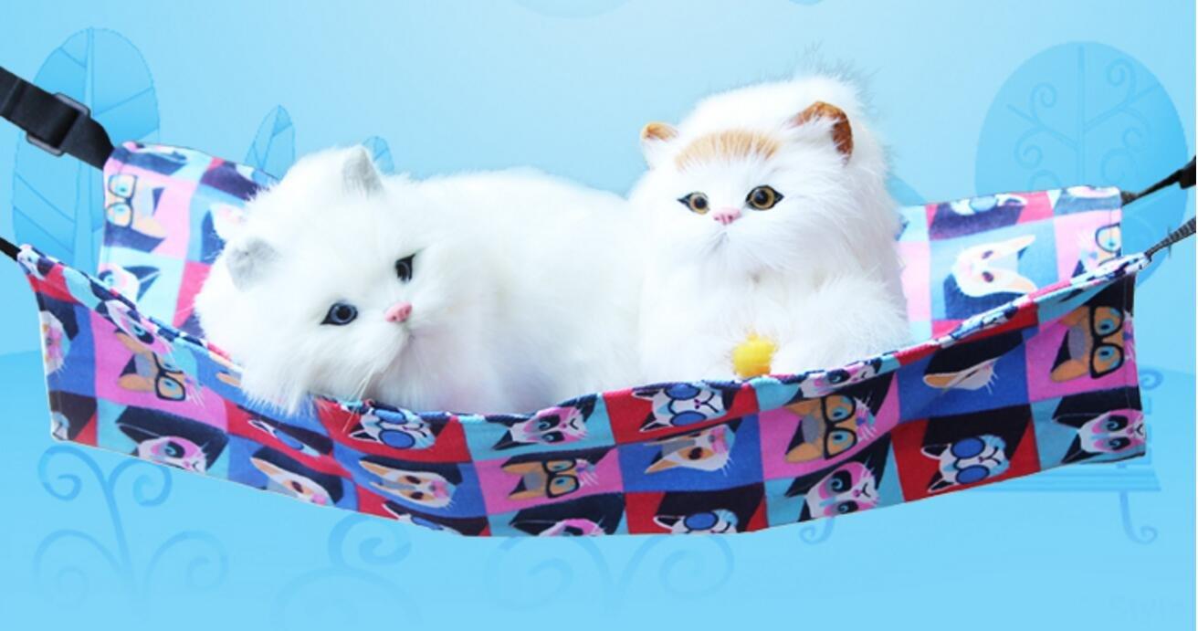 Xinjiener Cómoda Mascota Gato gatita Hamaca Cama Colgante Cama para Hurón Conejo Gato Chinchilla (Gato 3D, M): Amazon.es: Productos para mascotas