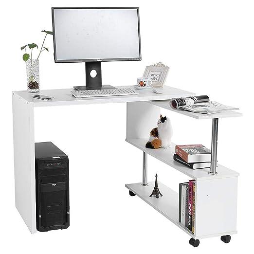 EBTOOLS - Mesa de Oficina giratoria en Forma de L para el hogar y ...
