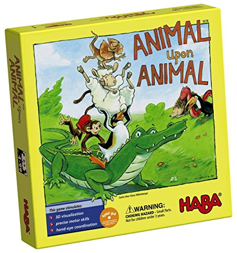 HABA Animal Upon Animal - Classic Wooden Stacking Game Fun for the Whole Family (Made in Germany) -