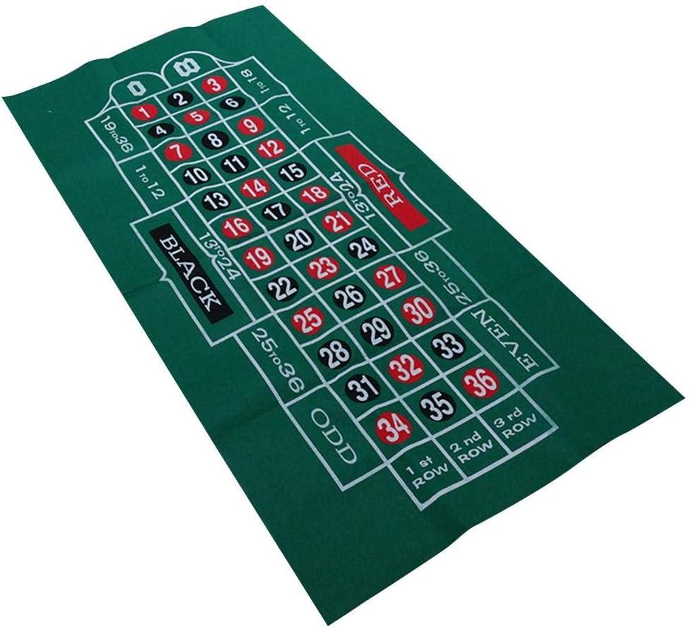 60x120cm Mantel De P/óker Tela De Felpa De Fieltro De Doble Cara Tapete De Ruleta Impermeable para Ruleta De Blackjack Mantel De Juego