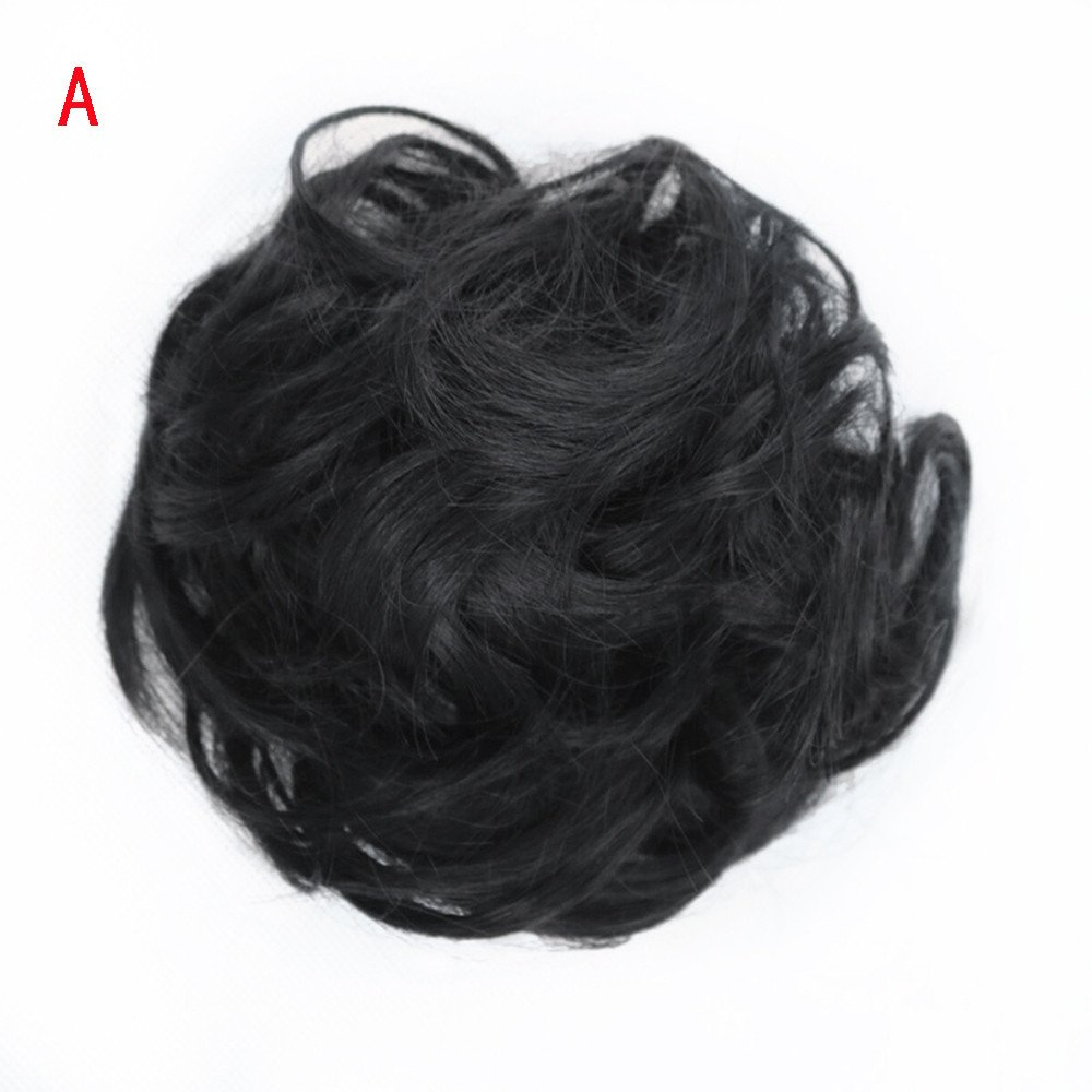 Junshion Women's Curly Messy Bun Hair Twirl Piece Scrunchie Wigs Extensions