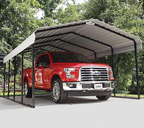 Metal Canopy (Arrow 29 Gauge Carport, Galvanized Steel Roof Panels, 12