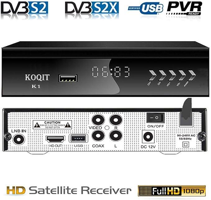 Free to Air FTA HD receptor de televisión por satélite digital integrado Galaxy 19 97W receptor de satélite DVB-S2 Digital TV Box DVB-S2/S Clear TV sintonizador Sat Decodificador/USB WiFi/YouTube/EPG/PVR grabación a USB: