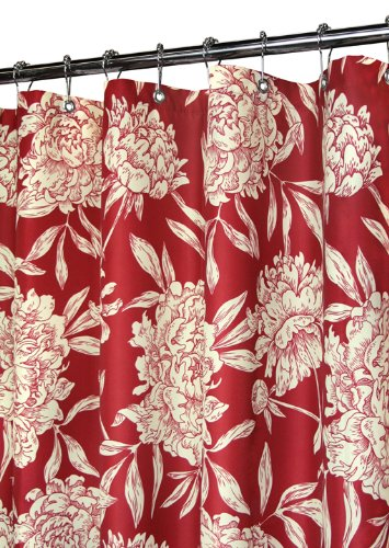 red and cream shower curtain. Park B  Smith Peony Shower Curtain Morrocan Red Cream Amazon com