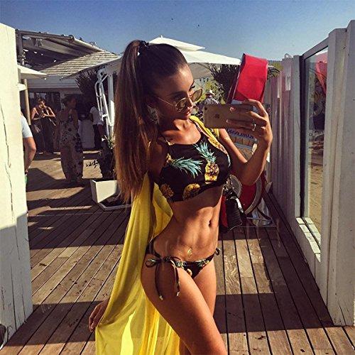 864883511c32c Cupshe Fashion Women s Pineapple Printing Halter Padding Bikini Set - Bikini  Online Shop