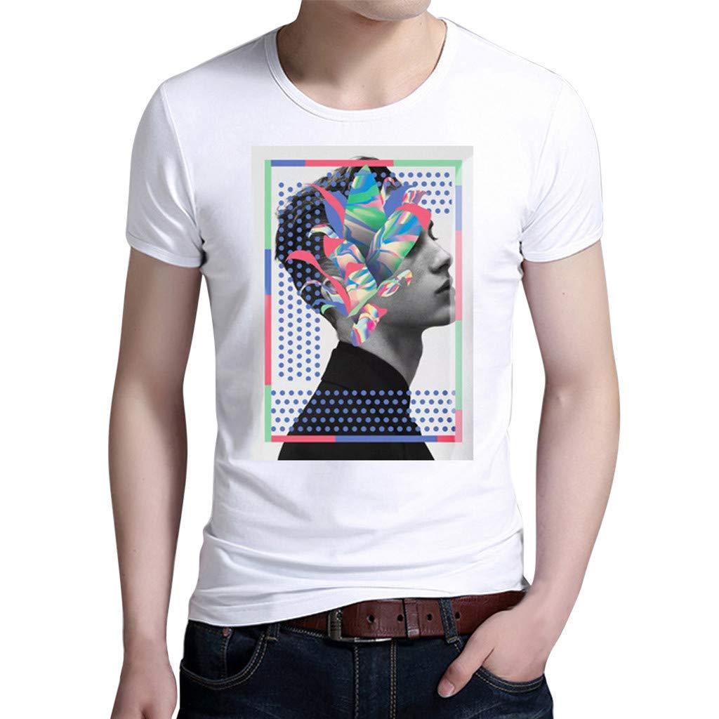 Mens T-Shirt Graphic,Fxbar Personalized Boy Shirt Summer Casual Tee Tops New Printed Holiday Tee