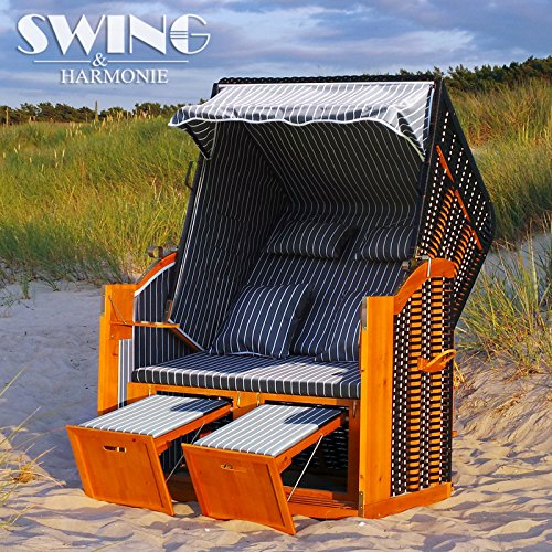 sale luxus strandkorb xxl 136cm rgen volllieger ostsee sonneninsel rattan mbel gartenliege. Black Bedroom Furniture Sets. Home Design Ideas