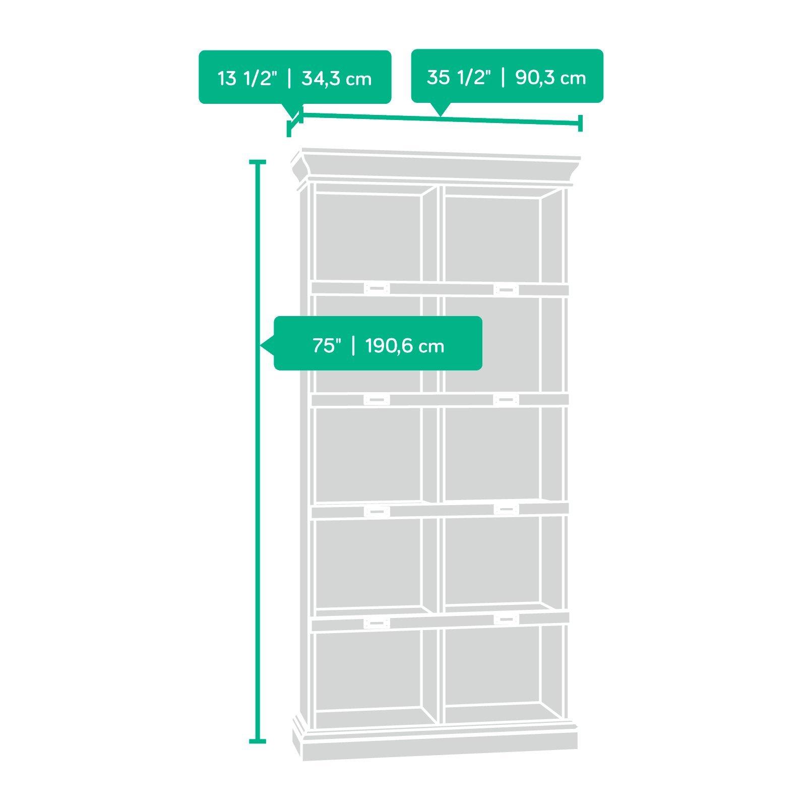 Sauder 414725 Barrister Lane Bookcase, L: 35.55'' x W: 13.50'' x H: 75.04'', Scribed Oak finish by Sauder (Image #10)