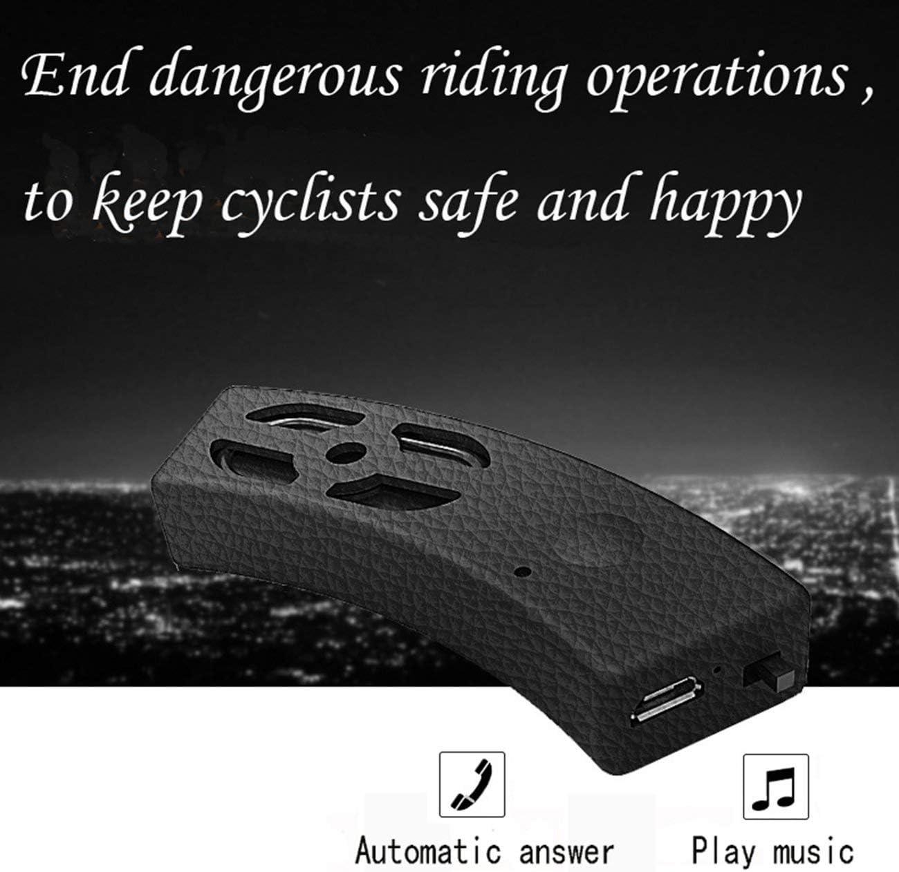 Casco de la Motocicleta Altavoz inal/ámbrico con micr/ófono Contestar Llamadas Impermeable Bicicleta Intercomunicador Altavoces Auriculares Plata