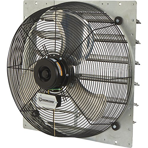 Strongway Totally Enclosed Direct Drive Shutter Exhaust Fan - 24in., 2-Speed, 3450/2893 CFM