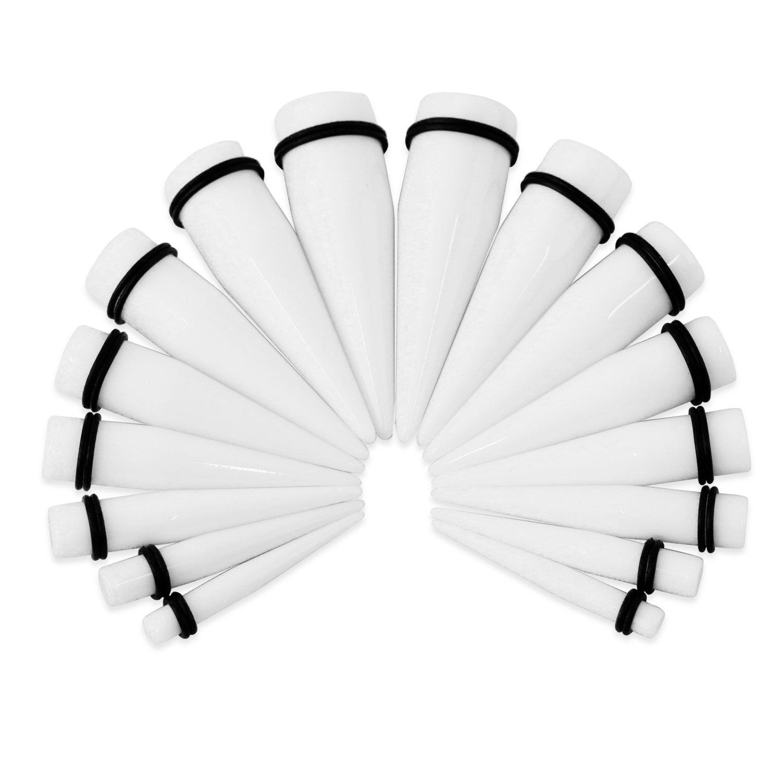 Fundseeder 8 par de acrílico Blanco Negro Oreja Camilla Kit Oído epaper Camilla Kit 6-20 mm: Amazon.es: Joyería