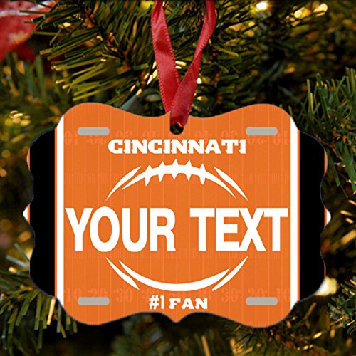 BRGiftShop Personalize Your Own Football Team Cincinnati Christmas Tree Ornament