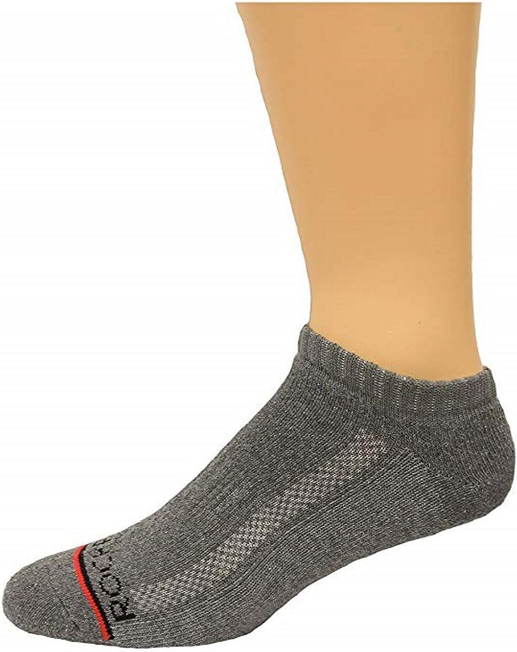 Rockport Men's No Show Socks 4 Pair, Grey, Men's 8-12