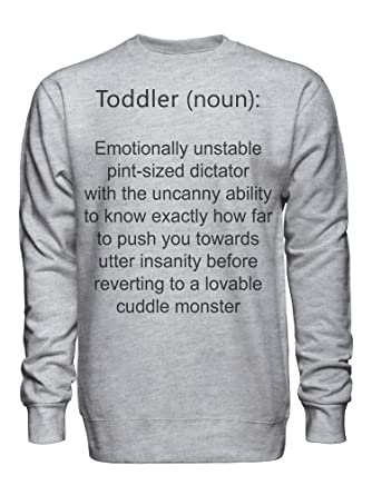 c71f2eea1d6 graphke Toddler Noun Dictionary Definition Unisex Crew Neck Sweatshirt at  Amazon Men s Clothing store