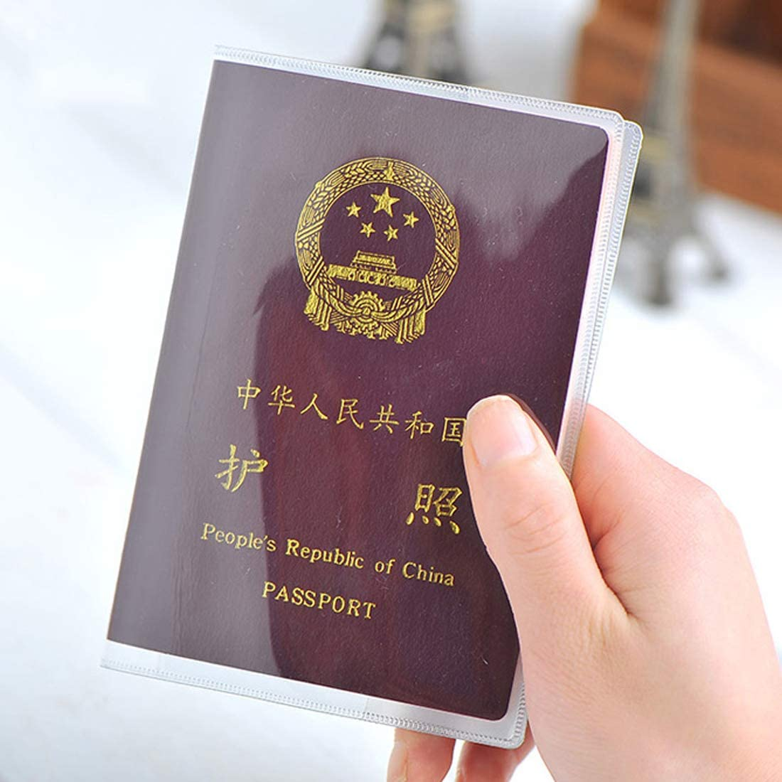 Silicone Transparent Waterproof Dirt Id Card Holders Passport Cover Travel Protector Storage Bags-透明