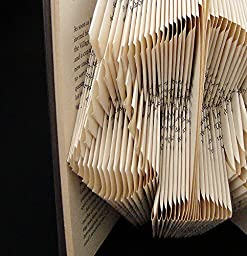 Scales of Justice Folded Book Art Sculpture