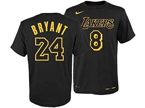 b662671e2bc Image Unavailable. Image not available for. Color: Nike Youth Los Angeles  Lakers Kobe Bryant Retired Player T-Shirt Medium Black