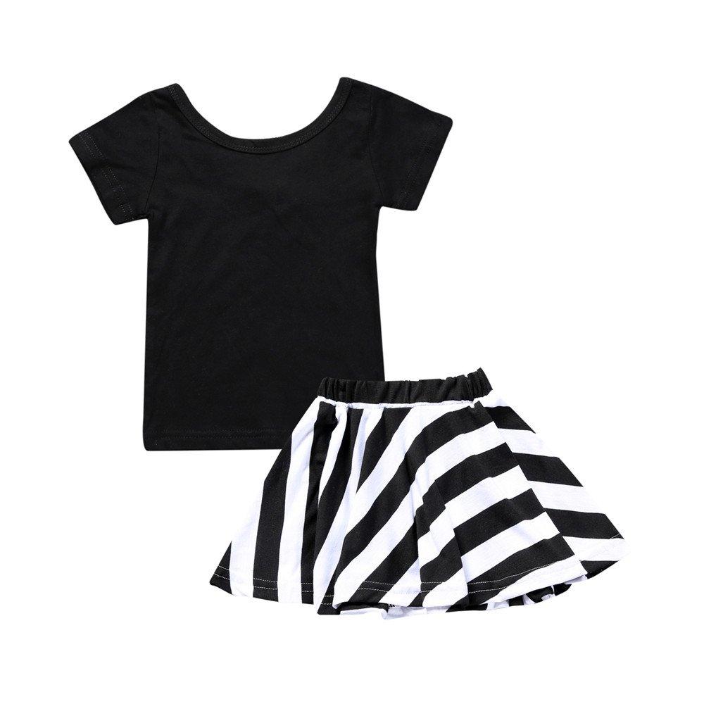 Kids Tales Little Girls' Little Black and White Classical Skirt Set Fuzhou Shang Ku Trade Co. Ltd.