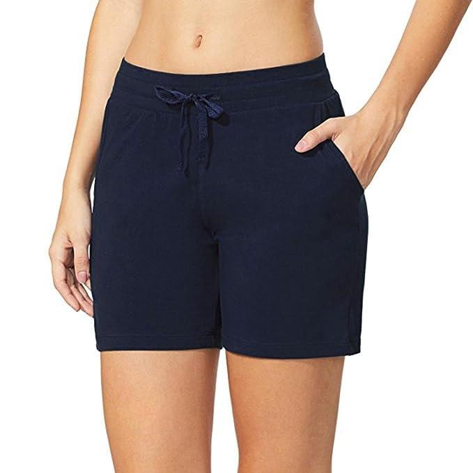 ♥-♥-♥-Pantalones Cortos para Mujer, RETUROM 2018 Cintura Elástica de Las Mujeres Activewear Yoga Lounge Shorts Bolsillos Beach Shorts Trouser: Amazon.es: ...